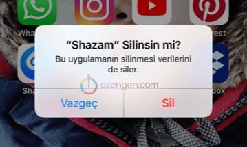 iPhone silinsin mi