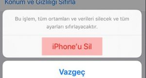iphone'u sil